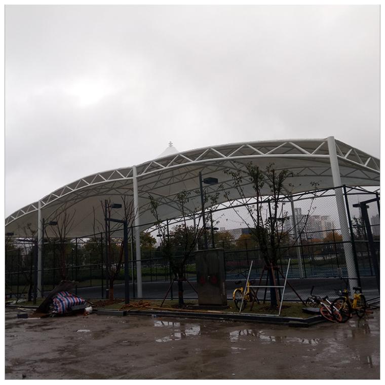 溫州美恒膜廠家直銷鋼膜結構汽車停車棚定制小區膜結構雨棚停車棚