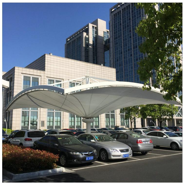 供應膜結構屋面圖片自行車膜結構停車棚公司價格優惠 質量可靠