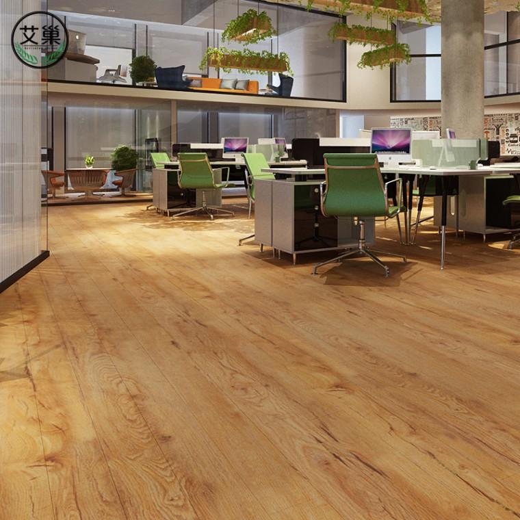 廠家直銷竹木碳纖維防水地暖卡扣地板,趕工期速成好品質木地板