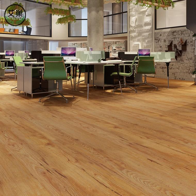 廠家直銷竹木碳纖維仿復合木地板,工裝專用細膩木紋鎖扣地板