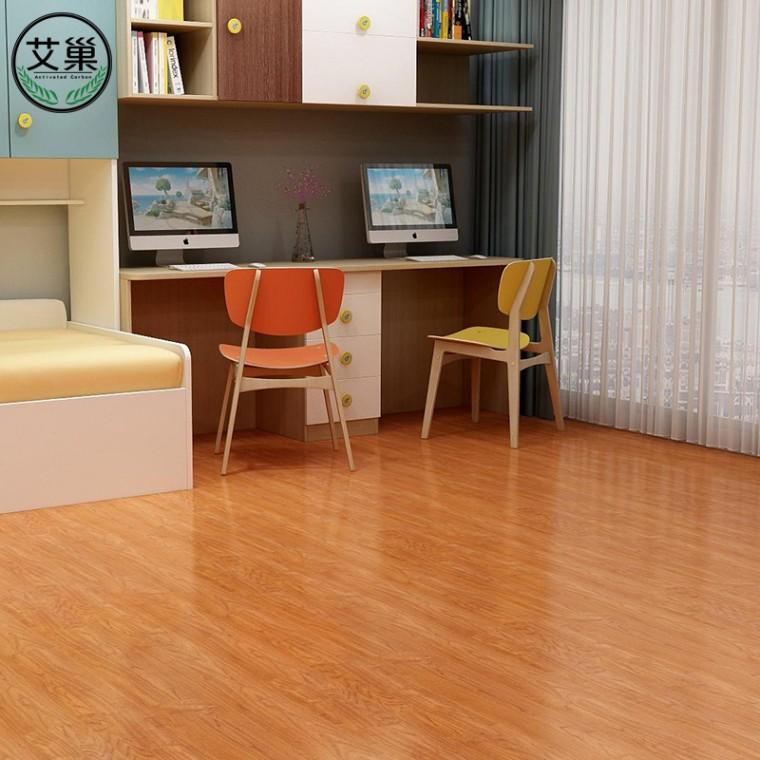 廠家直銷自粘塑膠石塑地板,免膠防水地板貼,臥室可用地板
