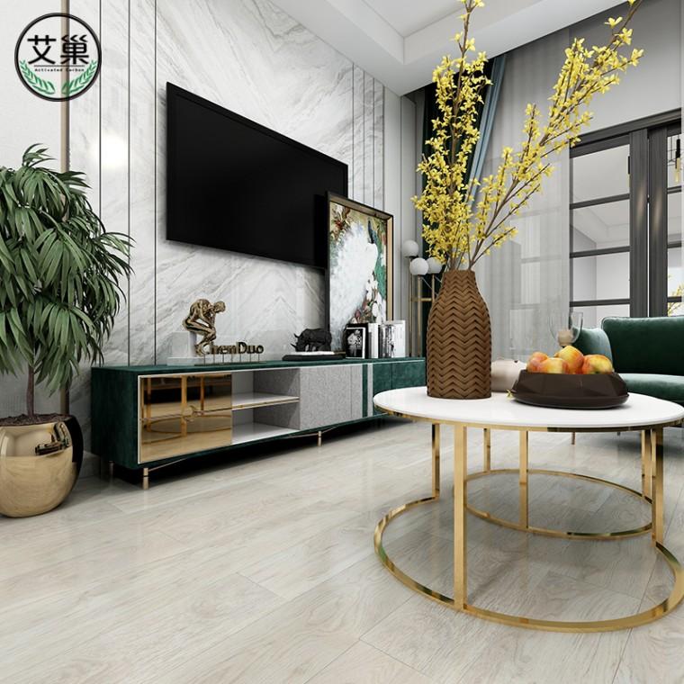 廠家直銷竹木碳纖維SPC鎖扣地板,法式高端定制實心木地板