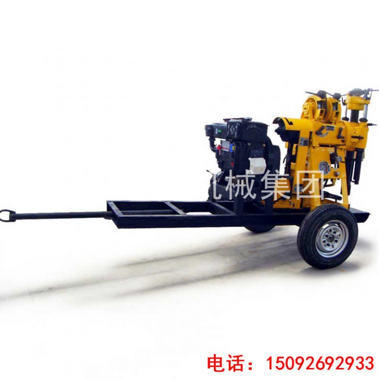 巨匠集團拖車式勘探鉆機XYX-130 輪式液壓鉆機行走方便