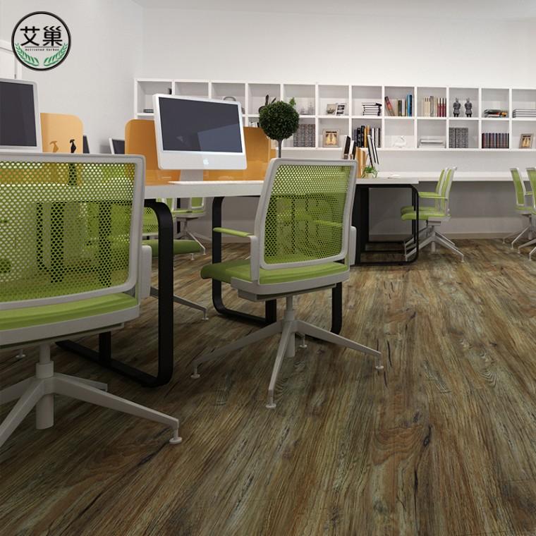 WPC竹木碳纖維室內地暖地板,便捷安裝卡槽浴室專用鎖扣地板