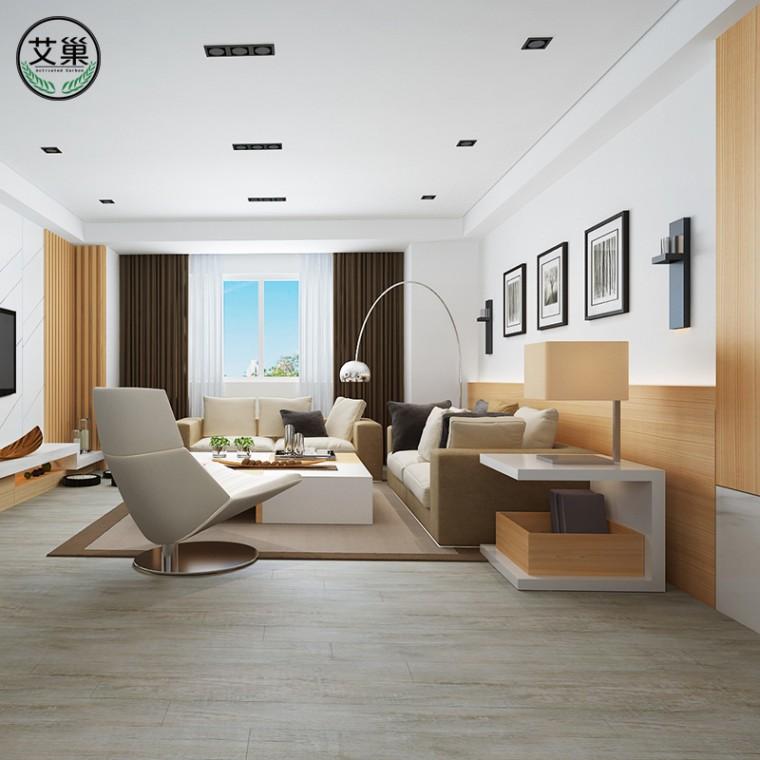 廠家直銷WPC竹木碳纖維室內家用防水地板,防火阻燃地板