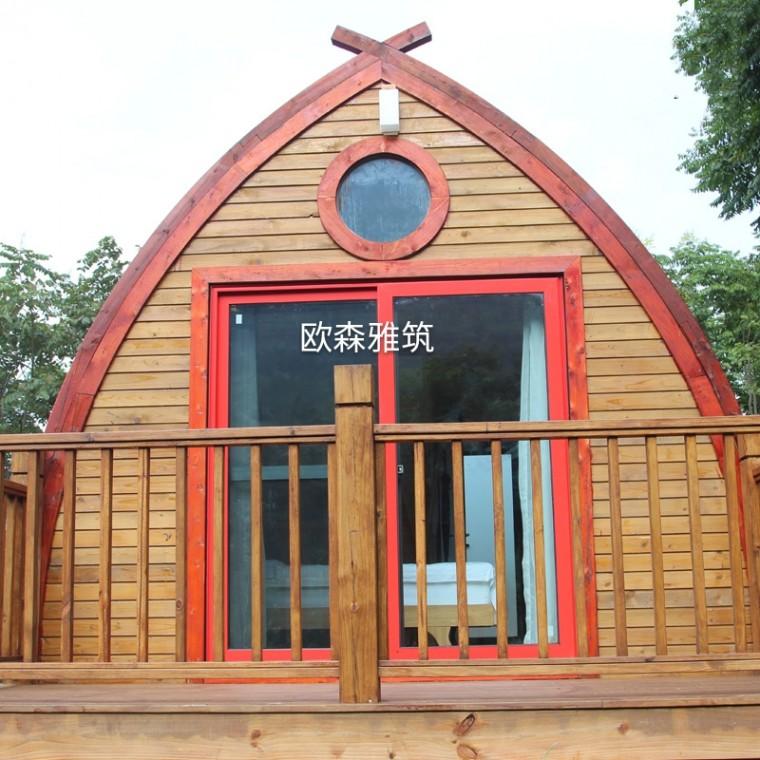 小船木屋,異形小木屋,異形木結構建筑,茅草木屋,茅草亭,