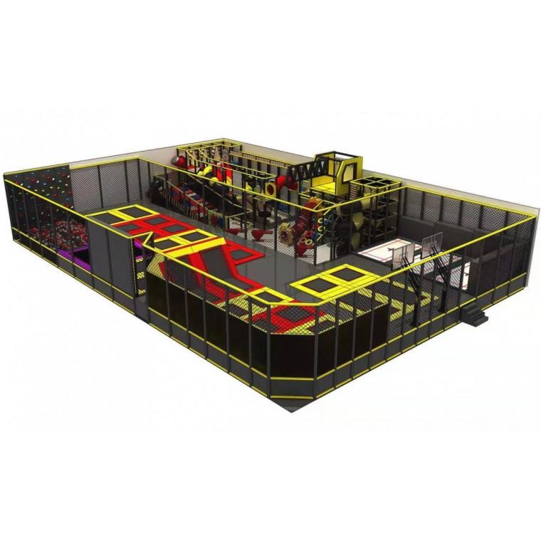 規劃設計大型綜合游樂場大蹦床粘粘樂滑草滑梯
