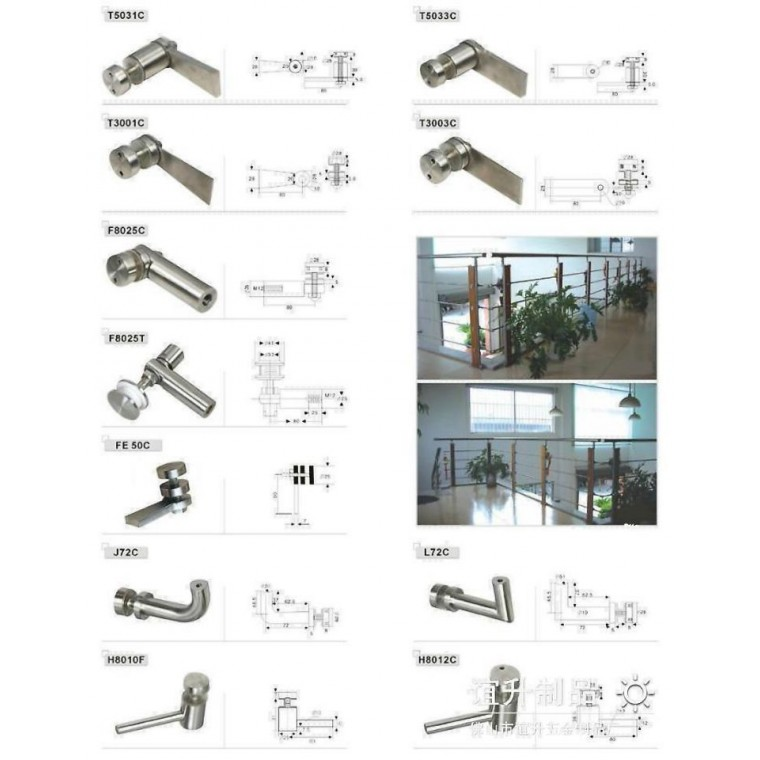 佛山厂家生产304楼梯栏杆扶手护栏不锈钢配件