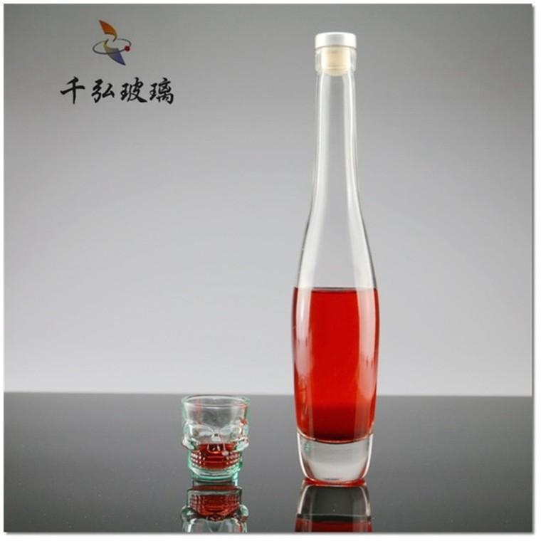 375ml保齡球紅酒瓶500ml冰酒瓶果酒瓶透明玻璃空瓶