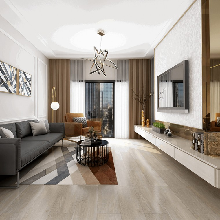 廠家直銷8mm竹木碳地板,加厚防水卡扣,室內家用商用鎖扣地板