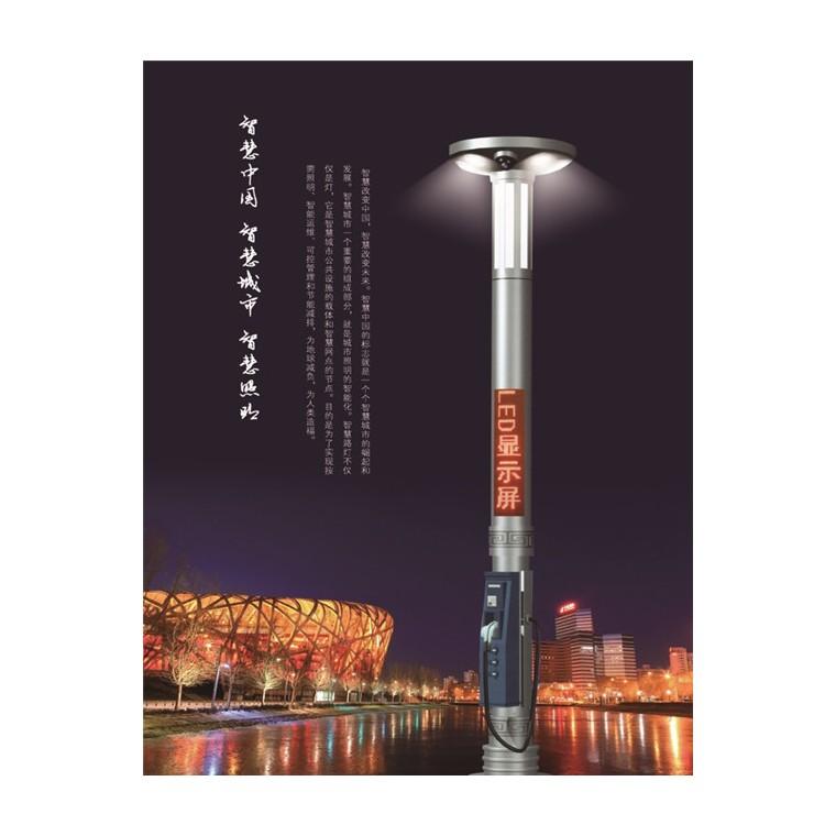 廠家直銷智慧路燈 城市智慧照明 充電樁燈桿 LED智能路燈