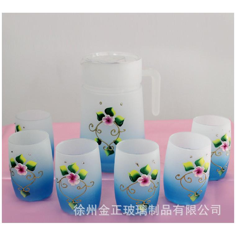 廠家供應 玻璃工藝裝飾品彩繪玻璃花瓶