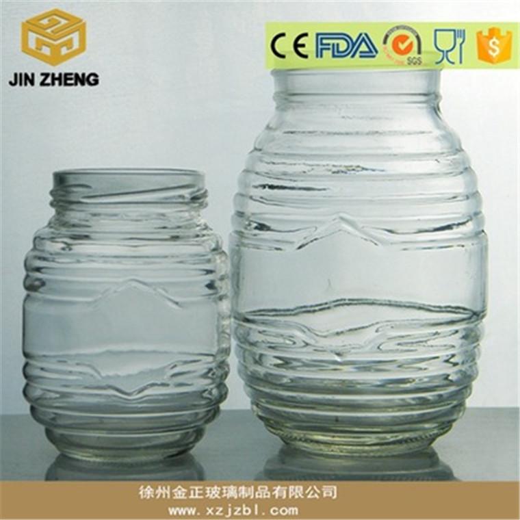 白料蜂蜜玻璃瓶水果罐頭瓶廠