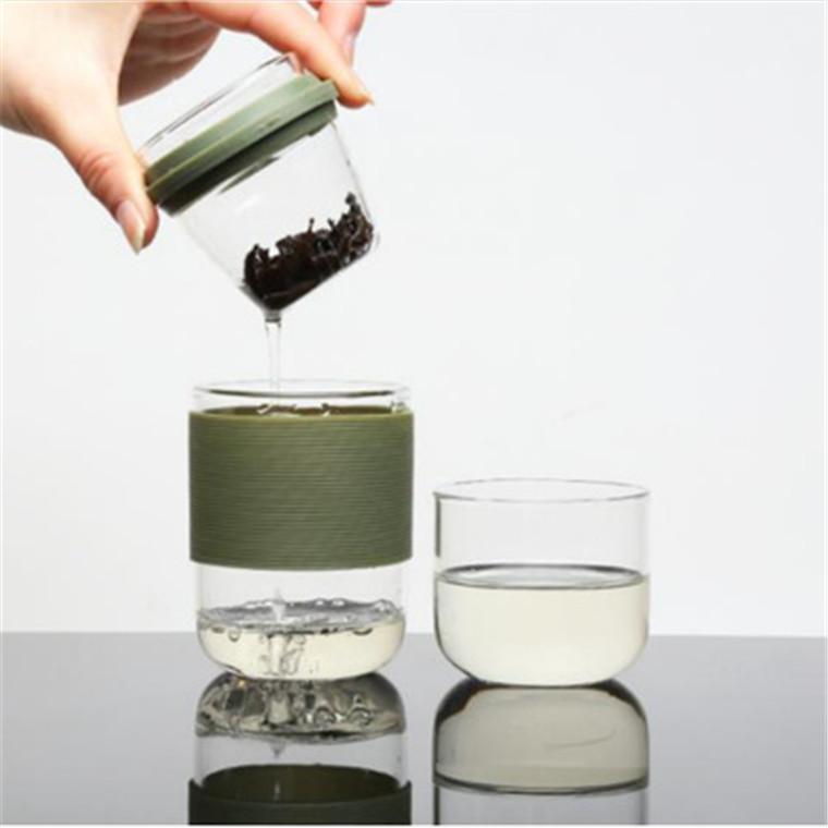 創意耐高溫泡茶杯 透明高硼硅玻璃水杯