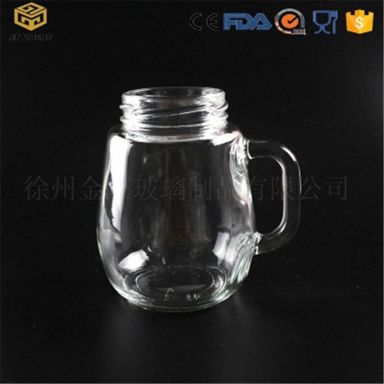 把手企鵝杯 380ml 透明玻璃水杯