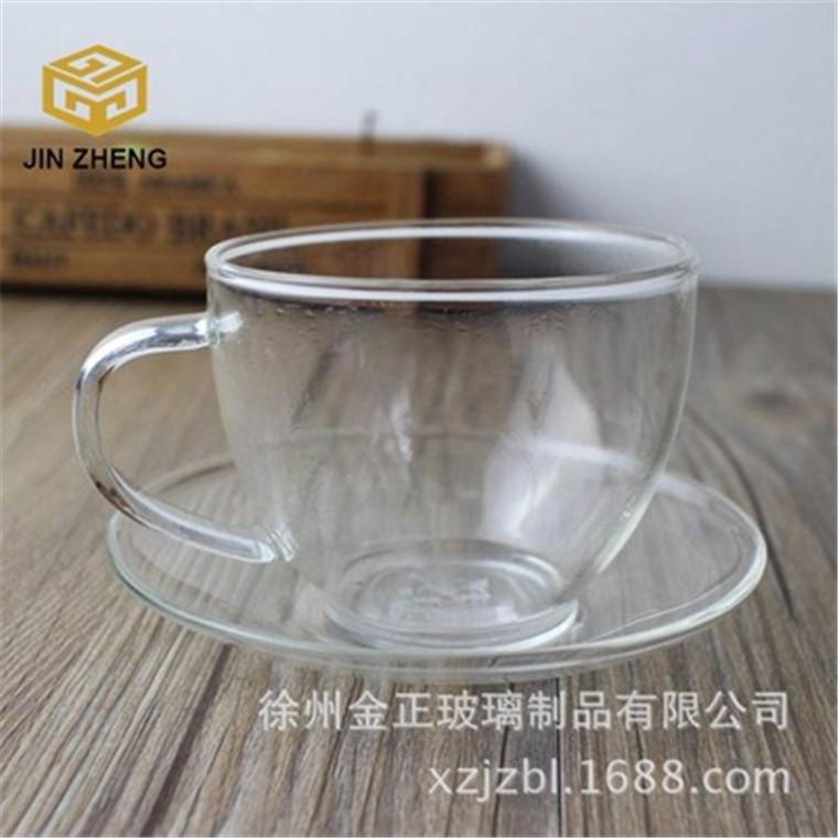 超薄超輕耐高溫帶把咖啡杯專用花茶杯套裝杯
