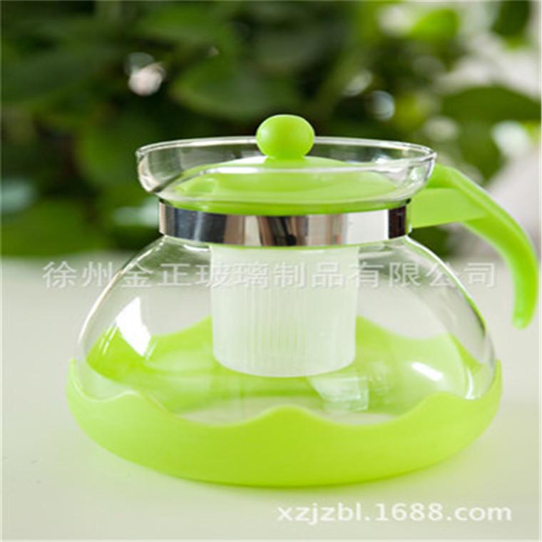 廠家現貨現貨批發 綠色玻璃茶壺