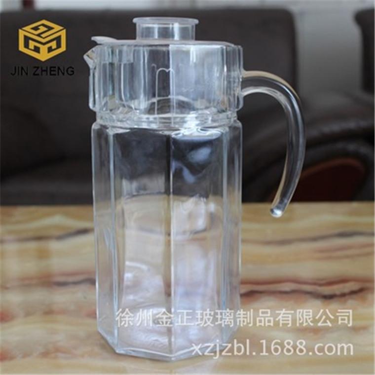 優良創意透明玻璃八角壺