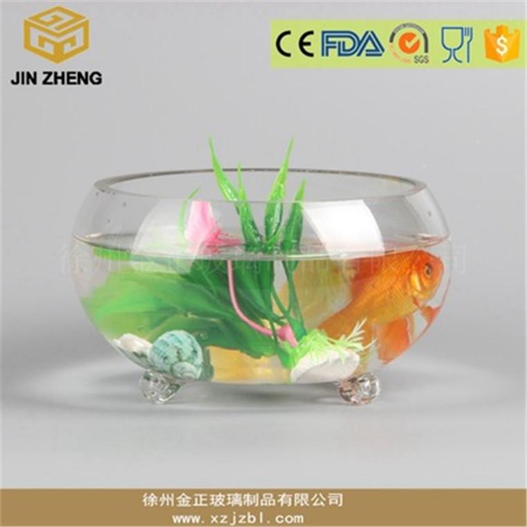 透明玻璃魚缸 三爪鼓缸