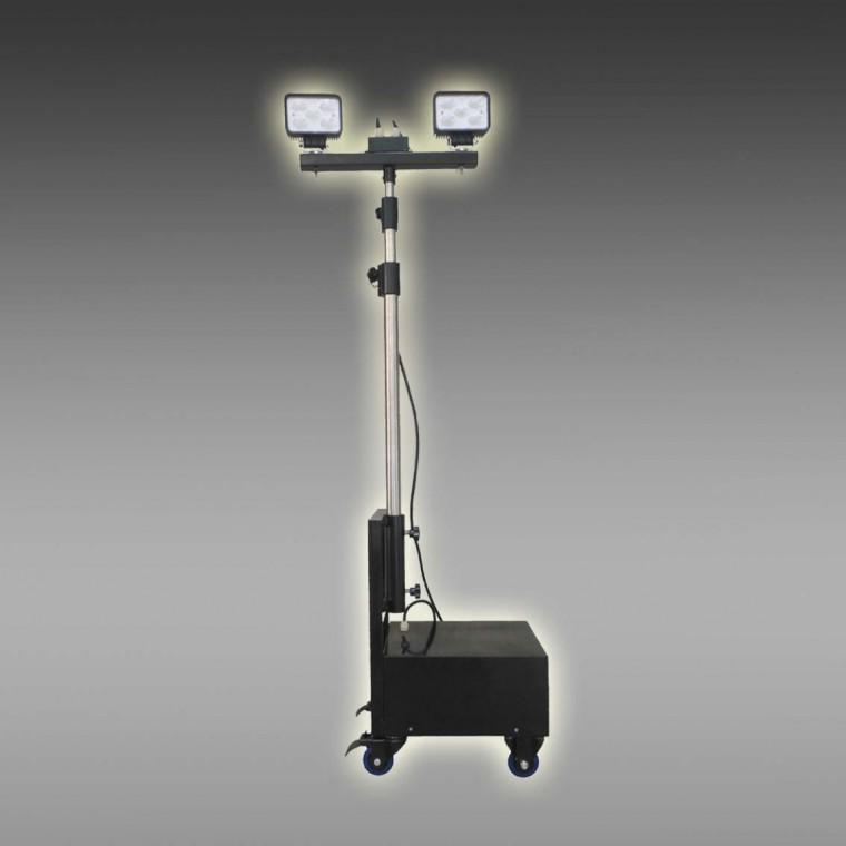 供应便携式升降应急投光灯厂家 充电升降照明灯定制