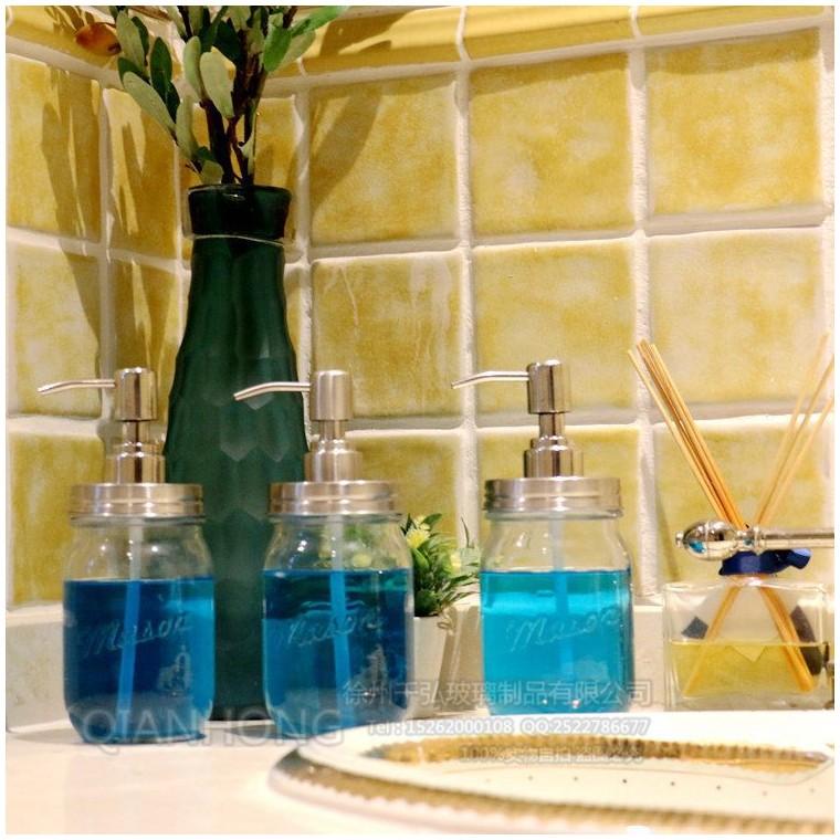 廠家直銷梅森罐 創意洗手液梅森罐,不銹鋼泵頭 梅森罐皂液器