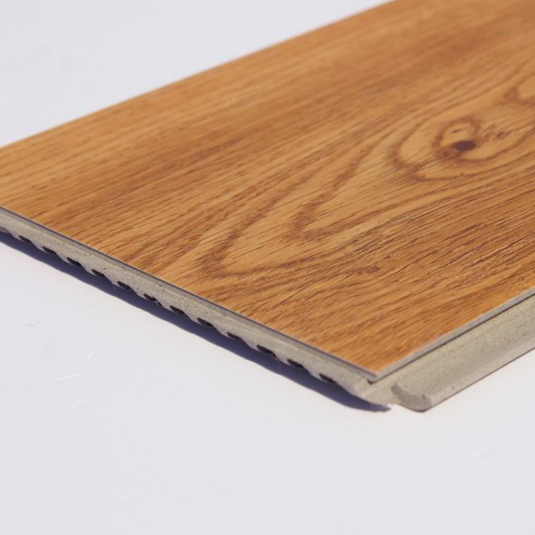 WPC竹木碳纖維12毫米地板教育機構木紋地板,防水環保地板
