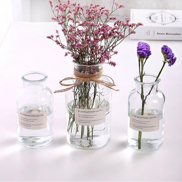 北歐風插花瓶擺件試劑插花瓶鮮花干花插花瓶客廳裝飾