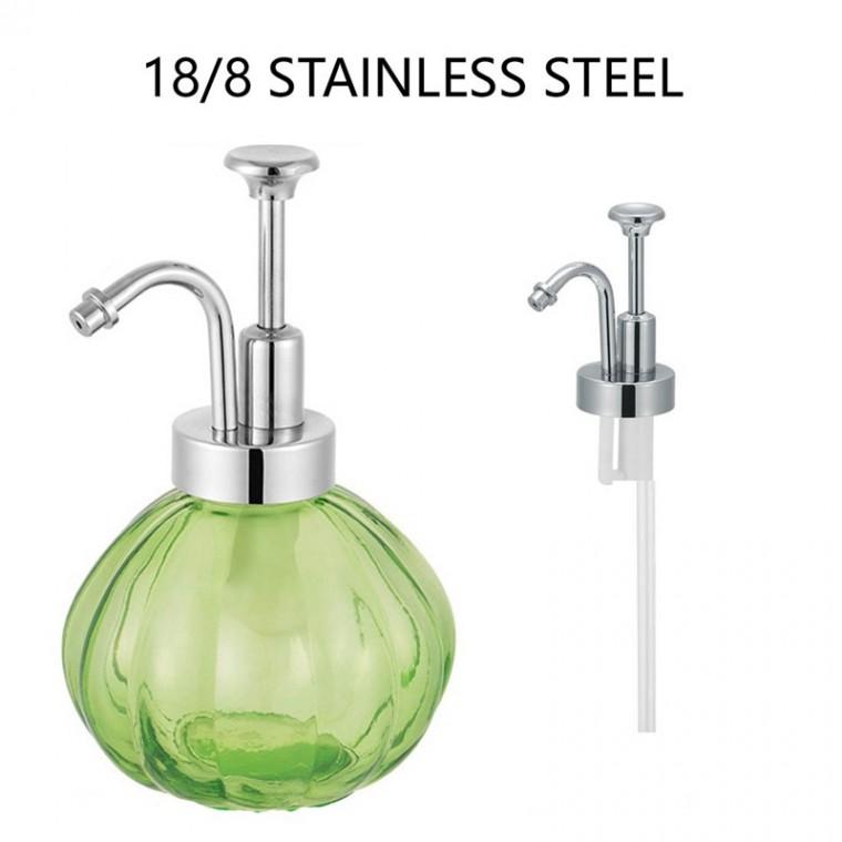 不銹鋼按壓頭噴霧蓋出液器梅森罐洗手液彎泵頭皂液器