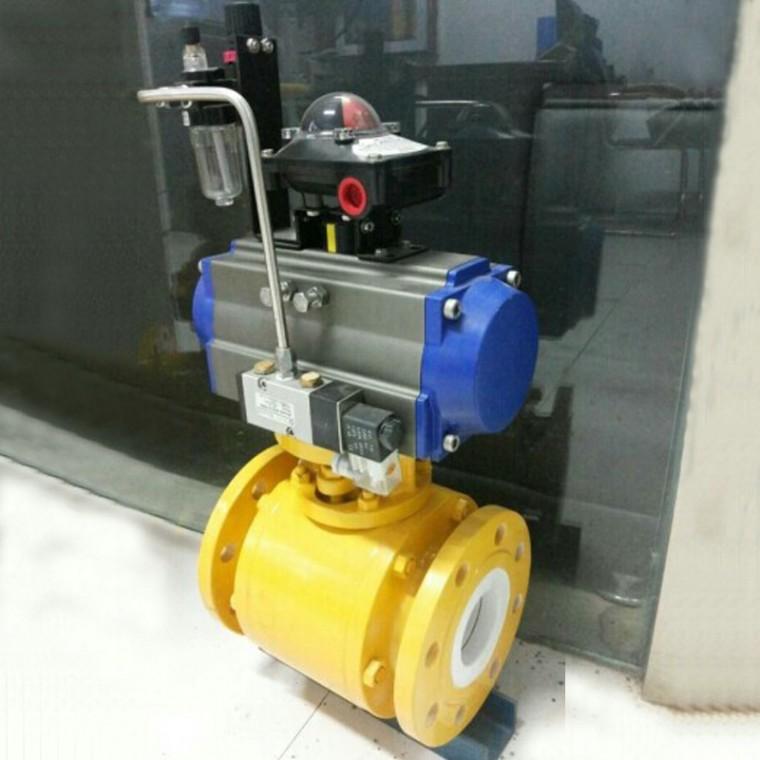 Q641TC-16C气动陶瓷球阀 耐磨气动陶瓷球阀 调节球阀