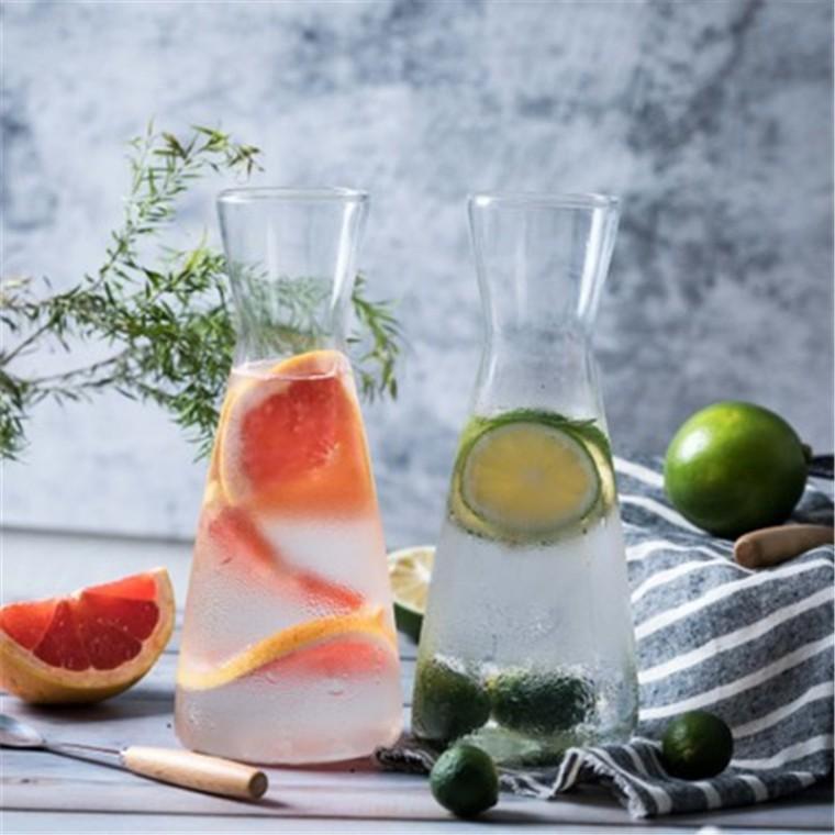 廠家批發北歐簡約飲料瓶耐熱玻璃透明果汁瓶創意家用花瓶果汁杯