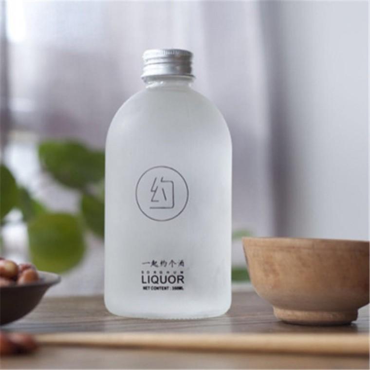 千弘創意蒙砂奶茶瓶飲料玻璃瓶果酒玻璃瓶咖啡瓶網紅果汁瓶定制