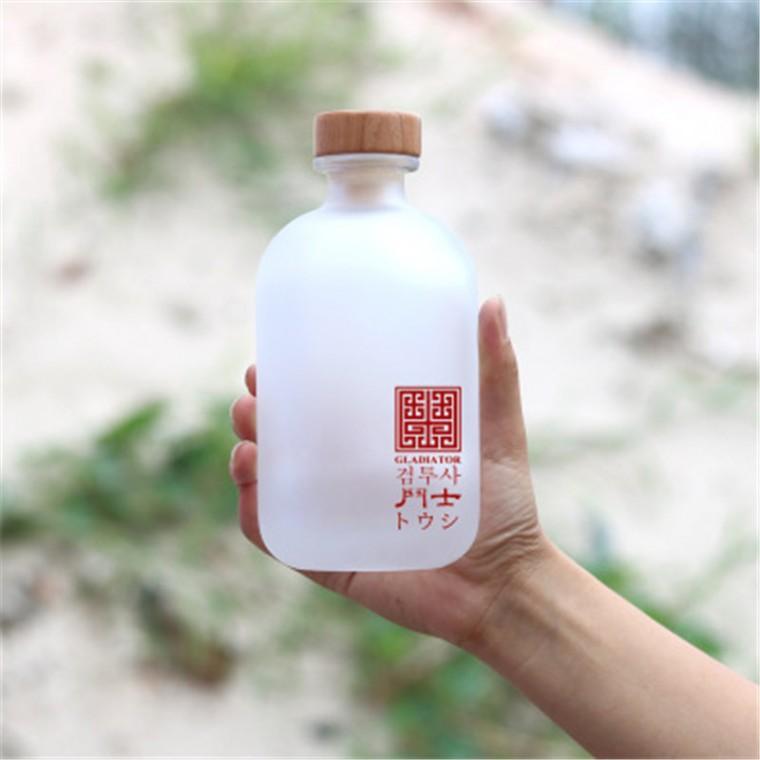千弘透明500ml果汁瓶 高檔果汁冰酒瓶楊梅果汁玻璃空酒瓶