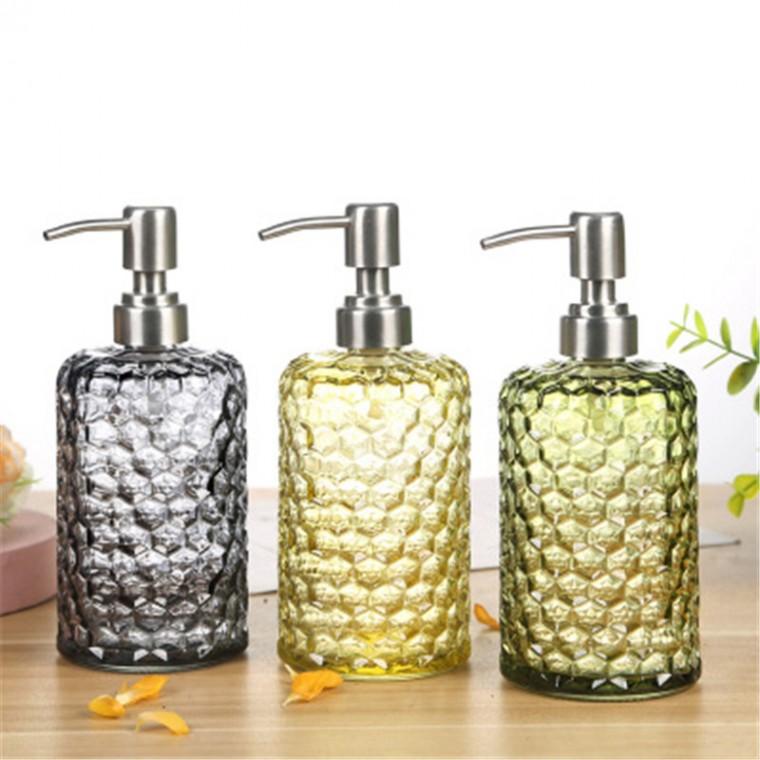 千弘玻璃洗發水瓶 乳液分裝瓶 按壓式大容量沐浴露洗手液瓶