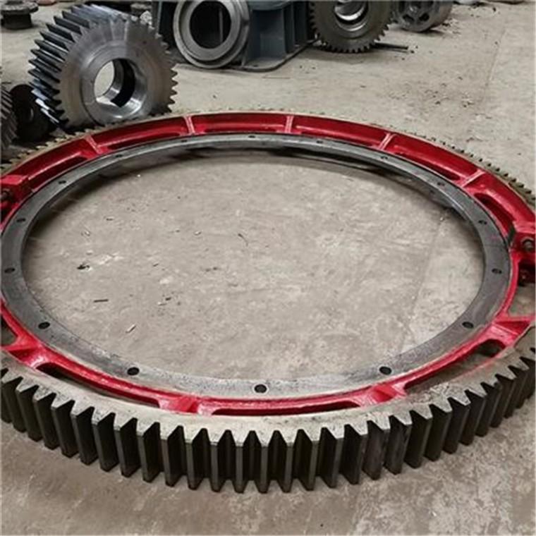 徐州奎一機械廠家直供 回轉干燥機大齒輪  大齒圈加工定做