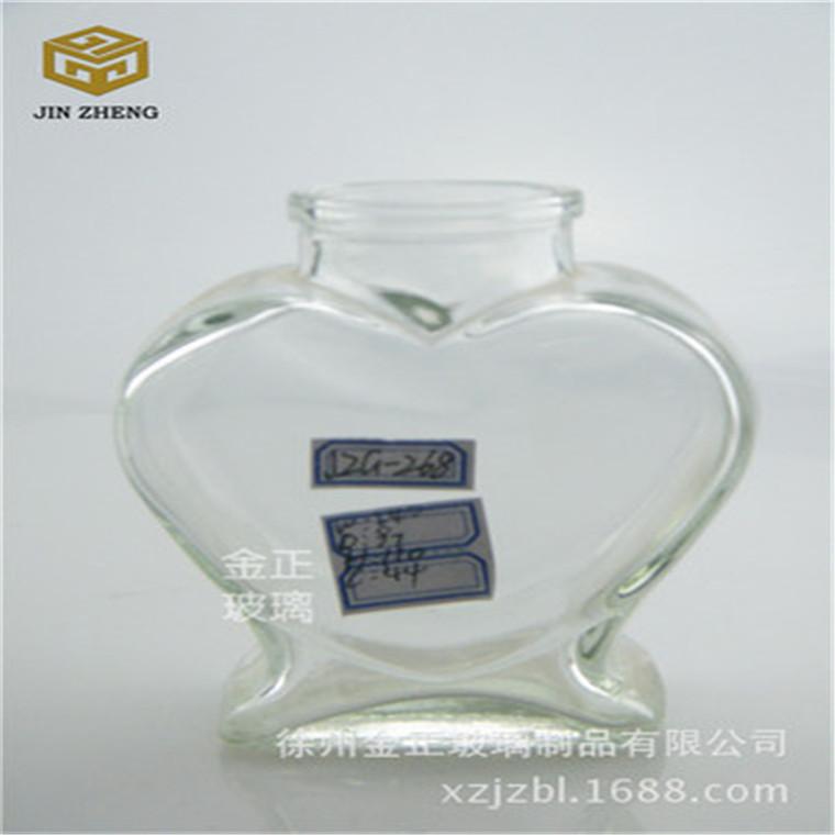 廠家批發 心形玻璃許愿瓶玻璃工藝品