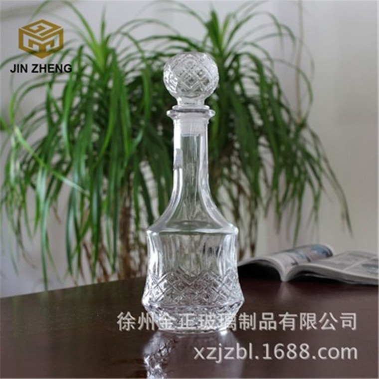 廠家銷售 透明密封玻璃洋酒瓶紅酒分酒器550毫升酒瓶