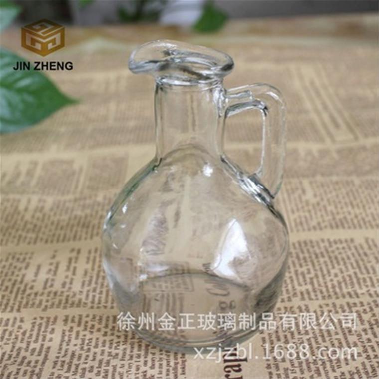 廠家定做批發 180ml玻璃料酒提 廚房專用調料瓶logo