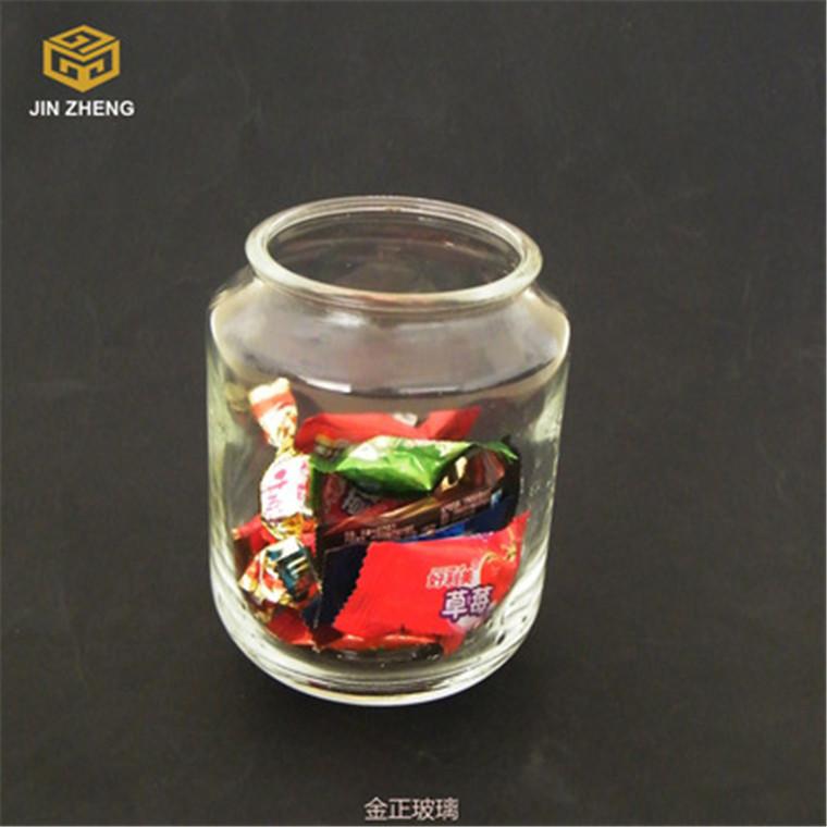 厂家批发销售 透明直筒玻璃糖果储物罐食品储物罐家用厨房收纳罐