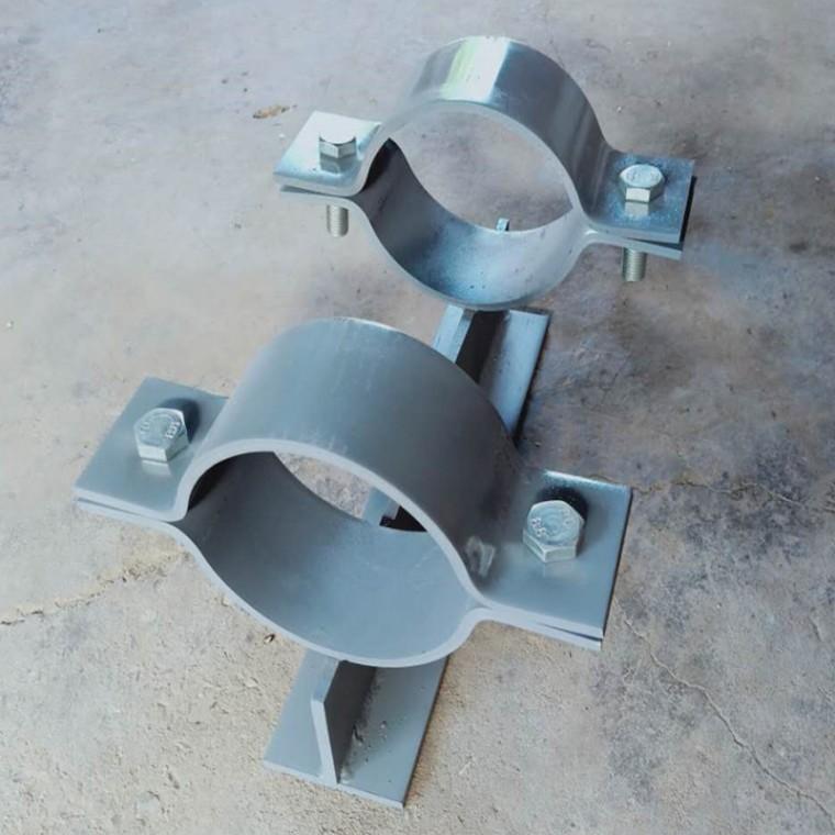 固定滑動管托-J8保冷管托J9雙螺栓管夾