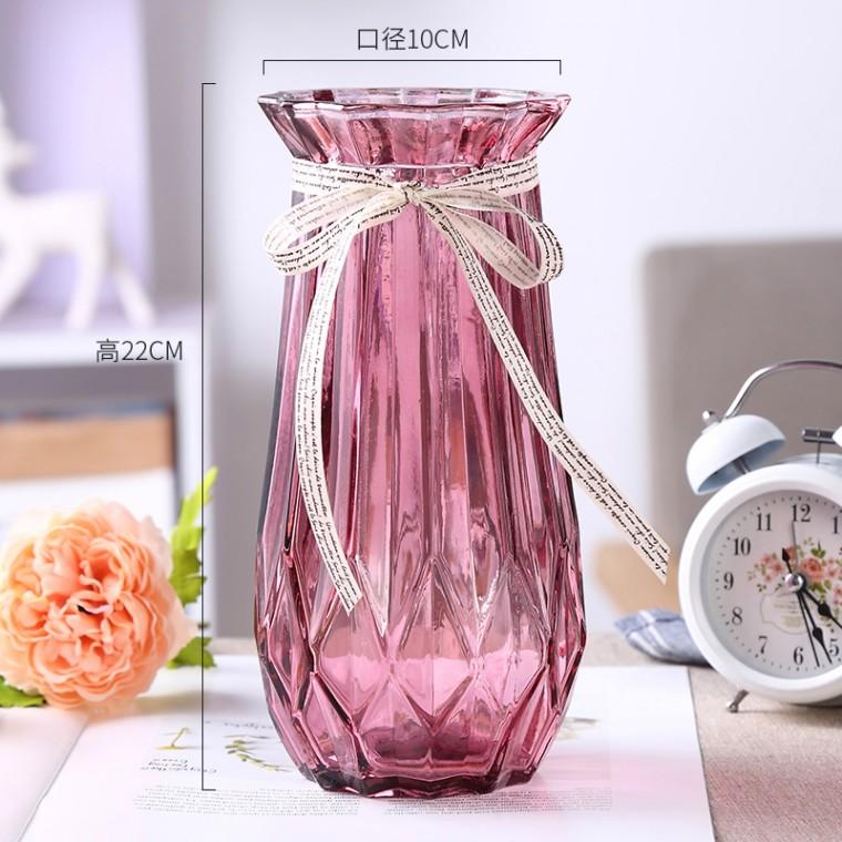 廠家批發新款歐式玻璃花瓶水培干花創意家居客廳裝飾擺件