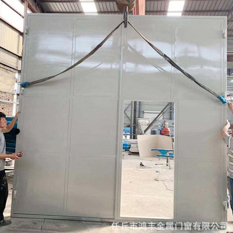 双开大规格工业平开门,彩钢板平移门,厂房车间平开门