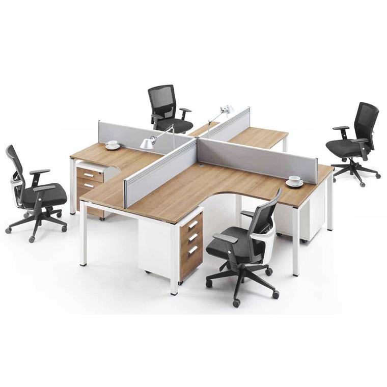 辦公屏風圓角桌