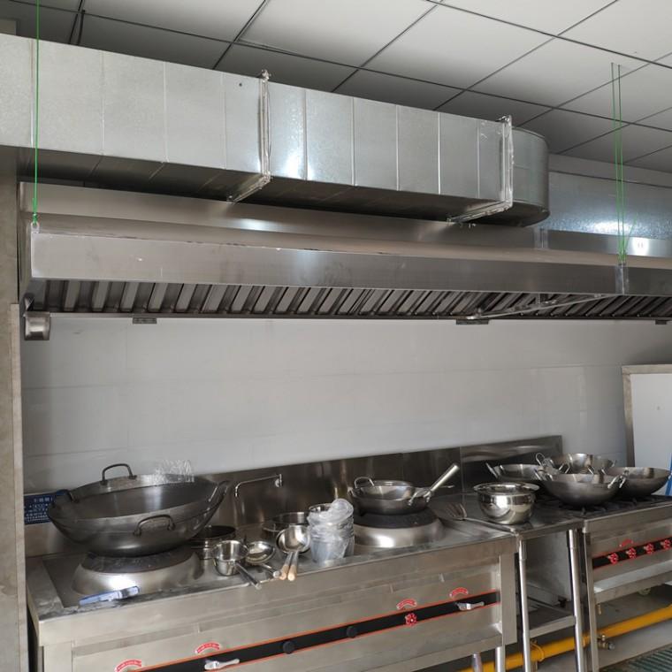 不锈钢油烟罩 厨房排烟设备生产安装