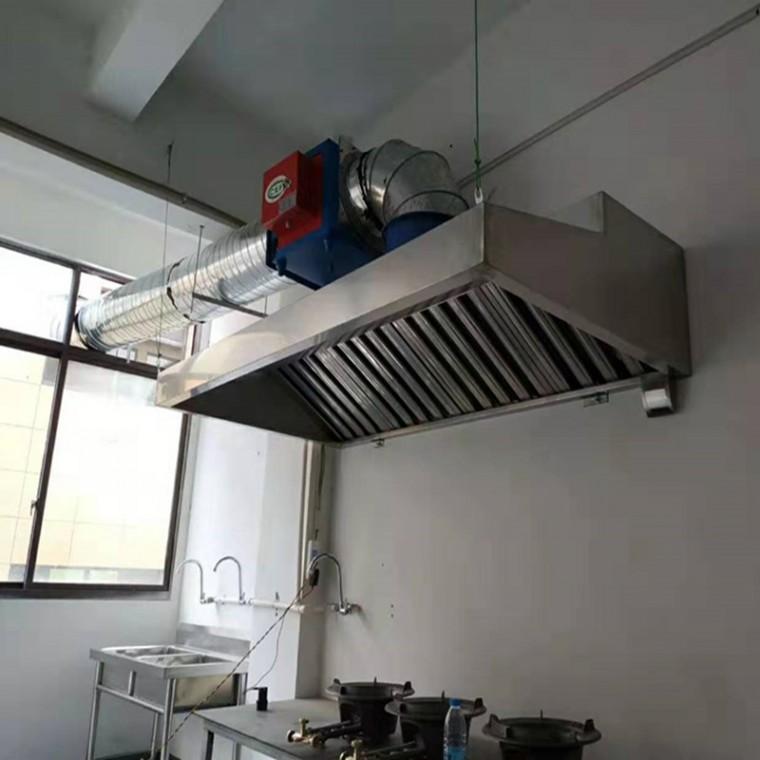 生产厨房油烟罩 排烟罩 安装