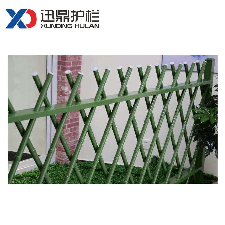 园林绿化带竹篱笆围栏 草地菜园仿竹子护栏栏杆 实体生产厂家
