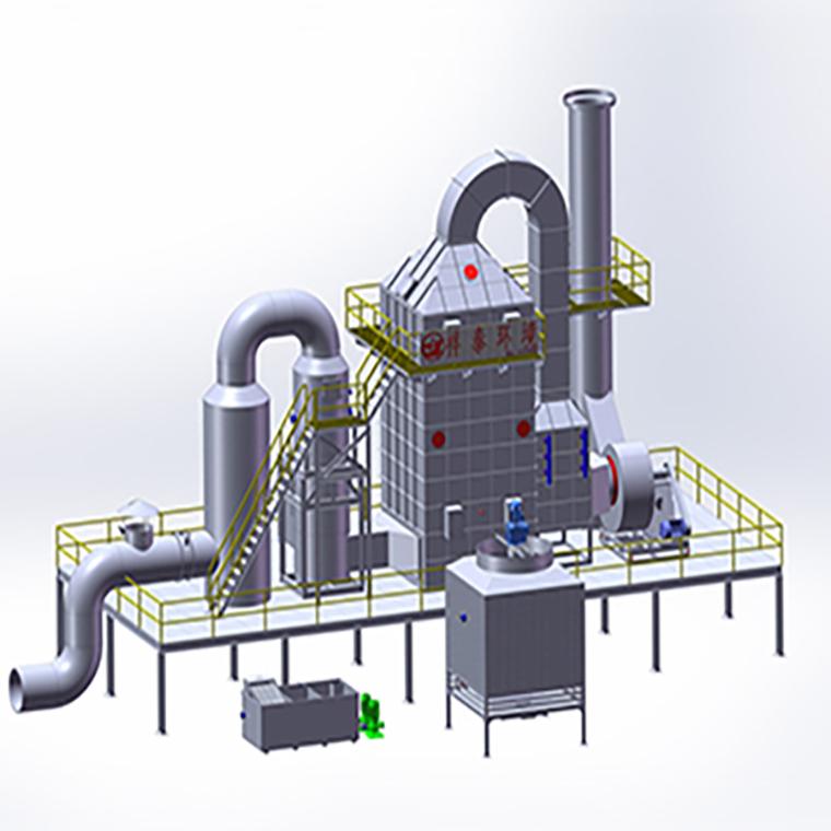三级双桶工业油烟净化器