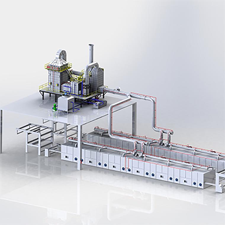 五级净化器+定型机蒸汽灭火