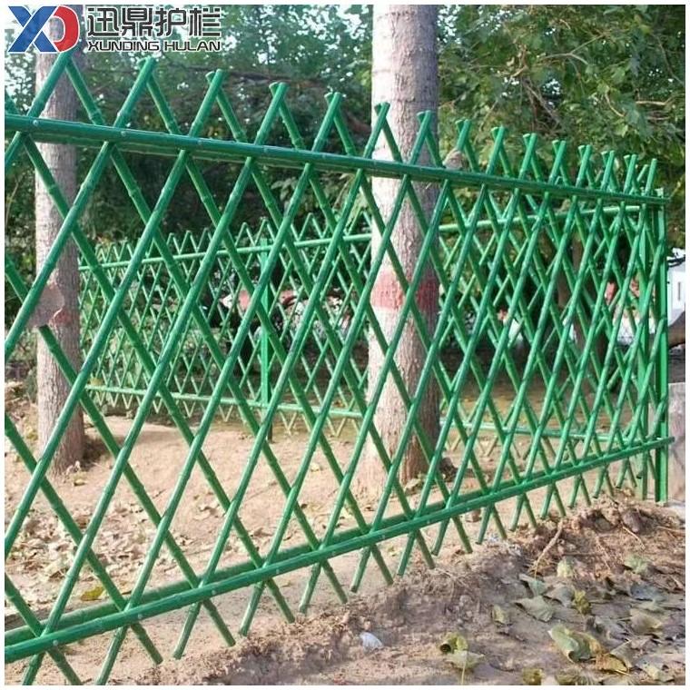 仿竹节护栏生产厂家仿竹篱笆栅栏围栏适用绿化带草坪