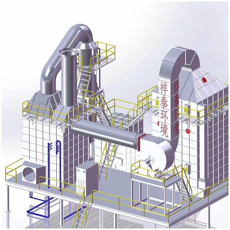 定型机油烟废气五级矩形净化器