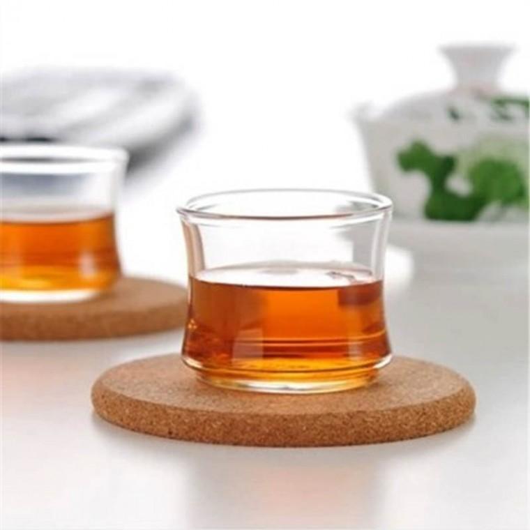 耐热加厚玻璃小茶杯小品杯功夫品杯高透明茶具禅意竹节杯